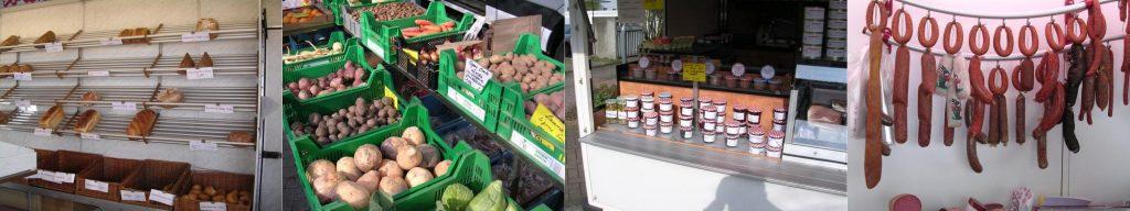 Produkte auf dem Wochenmarkt